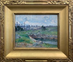 John Folinsbee, Quarry - Cape Ann, Oil on Board, Signed