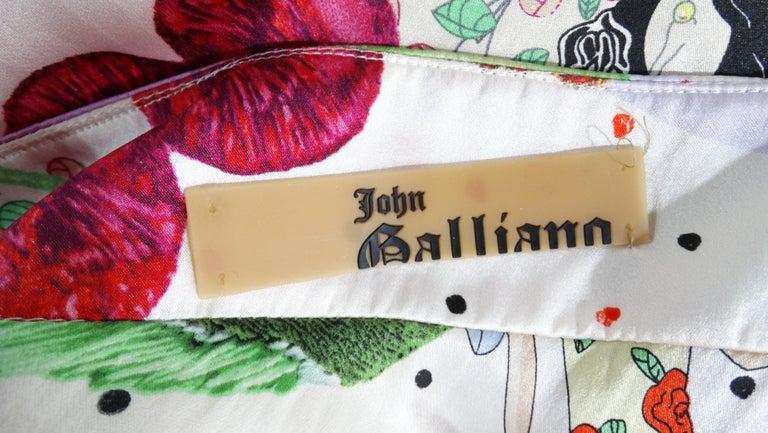 John Galliano 2000s Cherry Motif Silk Slip Dress  In Good Condition In Scottsdale, AZ
