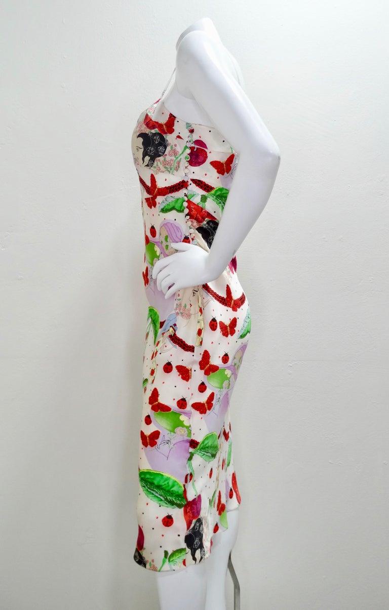 John Galliano 2000s Cherry Motif Silk Slip Dress  3