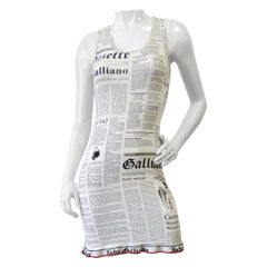 John Galliano 2000s Gazette Racerback Dress