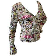 John Galliano 2004 Knit Cardigan Sweater