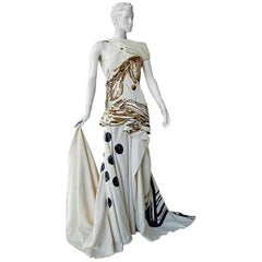 "John Galliano 2007 ""Fabrege"" Rare  Runway ""Finale"" Gown Dress"