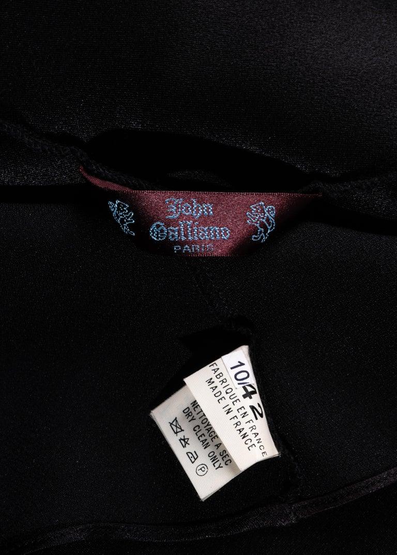 John Galliano black satin-backed crêpe evening dress, fw 1994 For Sale 5