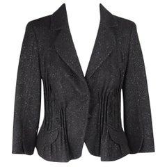 JOHN GALLIANO Black Wool & Cashmere BLAZER Jacket SIZE 6