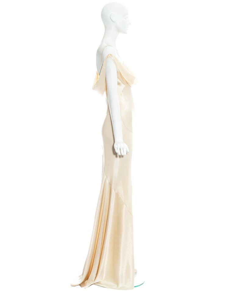 John Galliano champagne bias cut wedding dress, ss 1995 For Sale 1