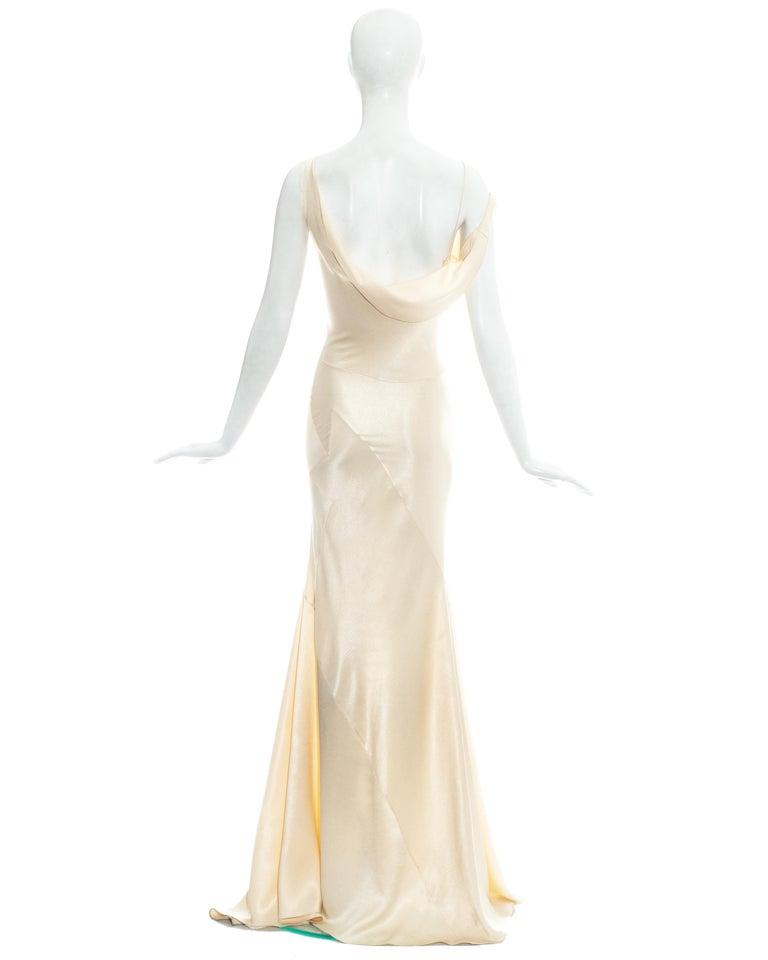 John Galliano champagne bias cut wedding dress, ss 1995 For Sale 2