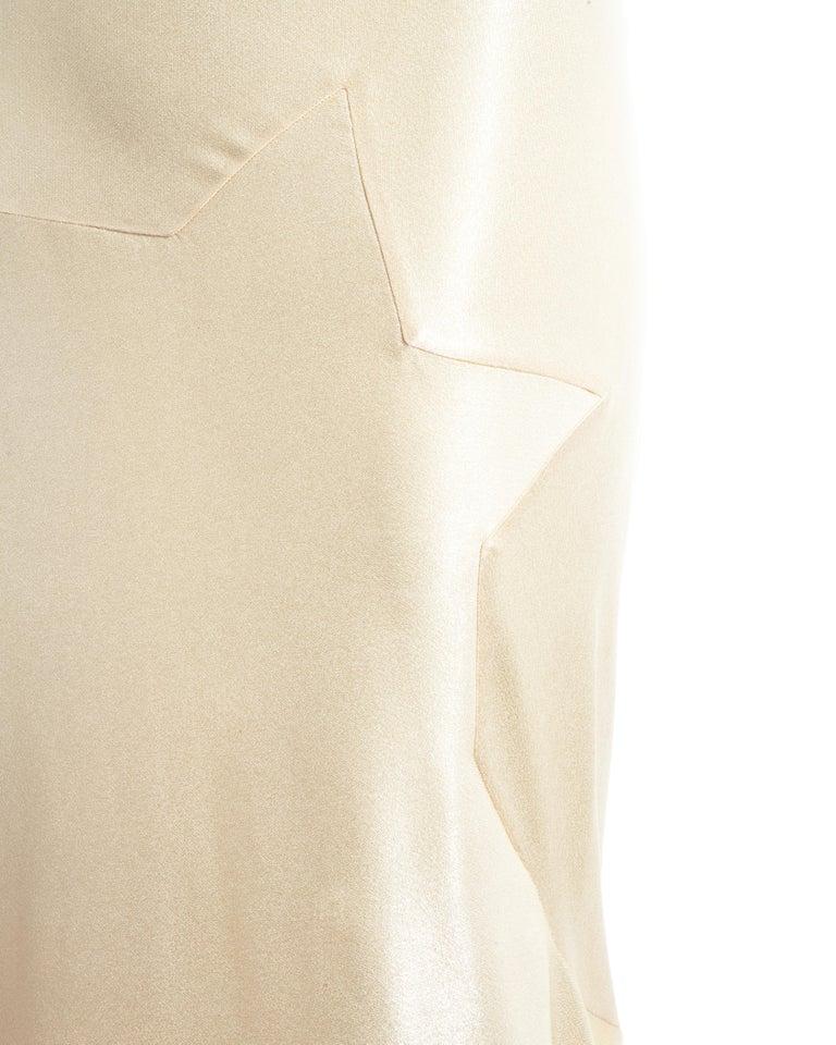 John Galliano champagne bias cut wedding dress, ss 1995 For Sale 3
