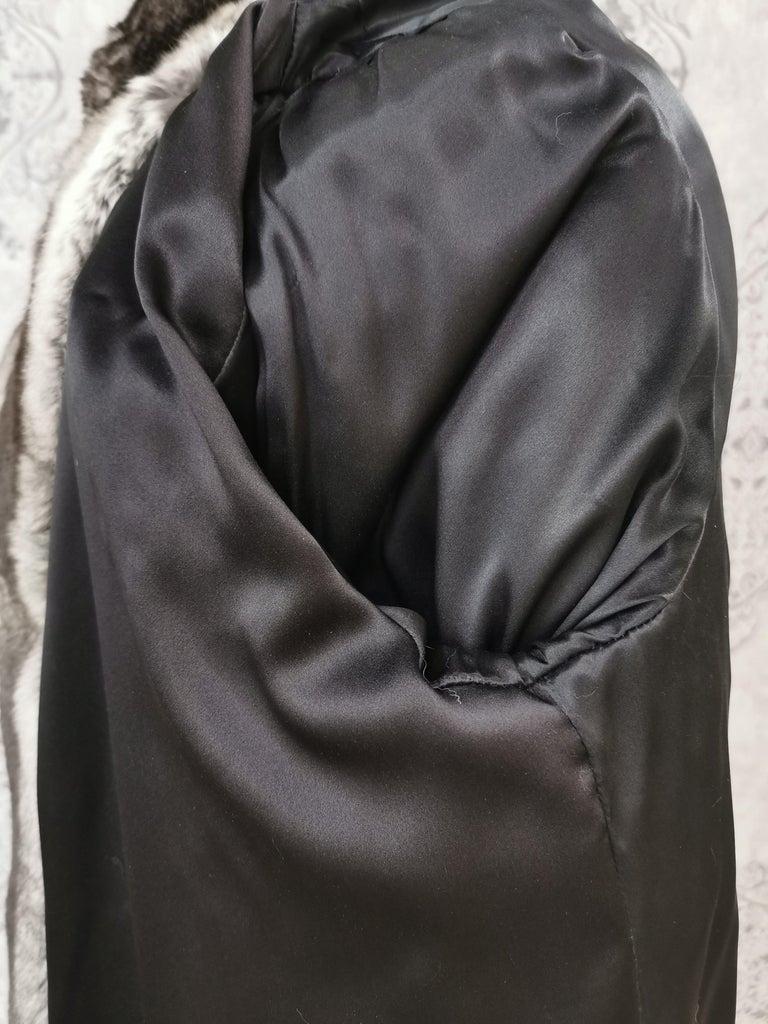 John Galliano Chinchilla Fur Coat (size 16) For Sale 5