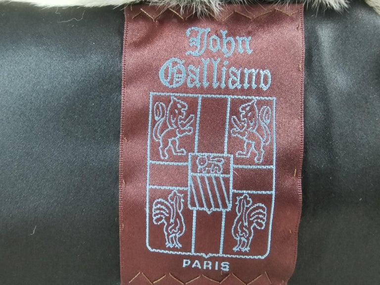 John Galliano Chinchilla Fur Coat (size 16) For Sale 6