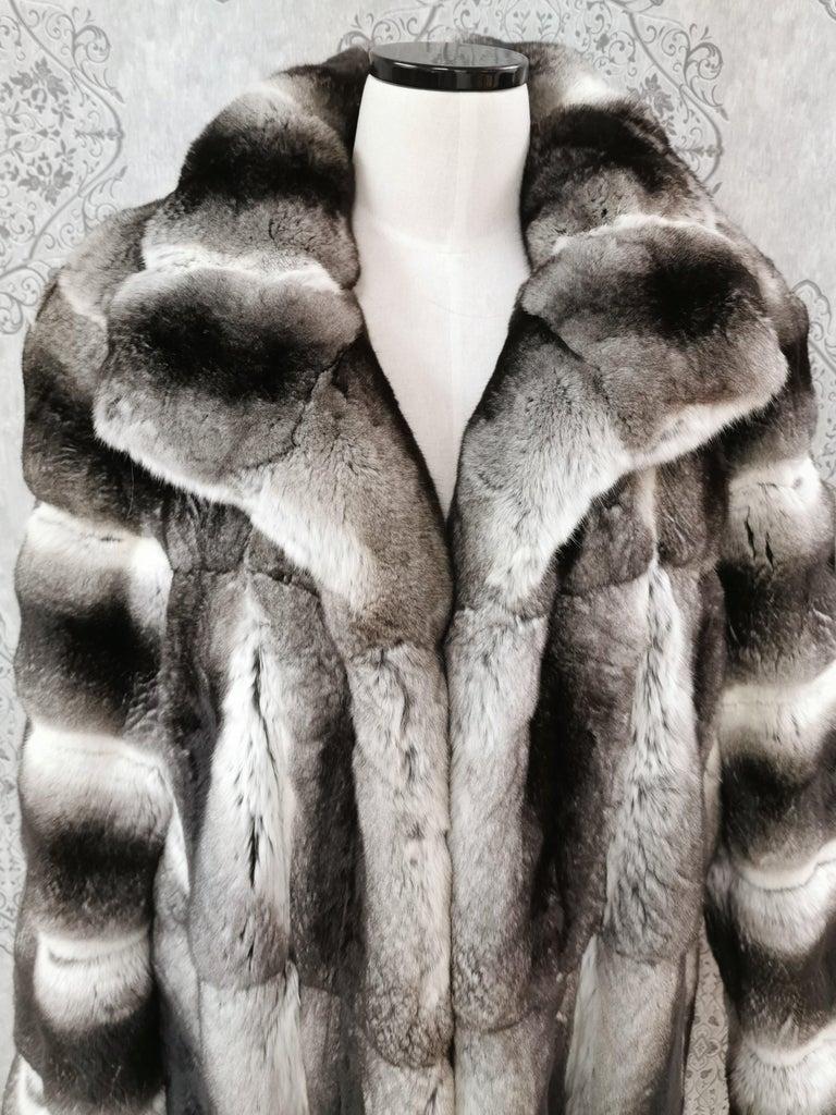 Women's John Galliano Chinchilla Fur Coat (size 16) For Sale