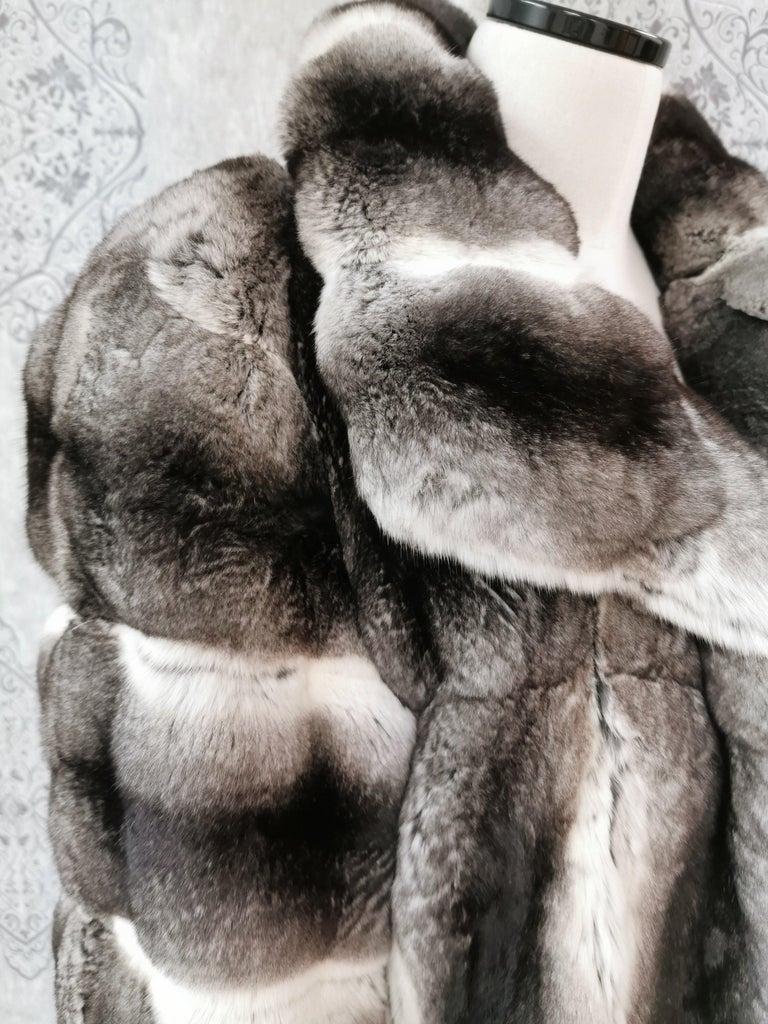 John Galliano Chinchilla Fur Coat (size 16) For Sale 1