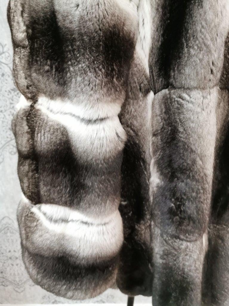 John Galliano Chinchilla Fur Coat (size 16) For Sale 2