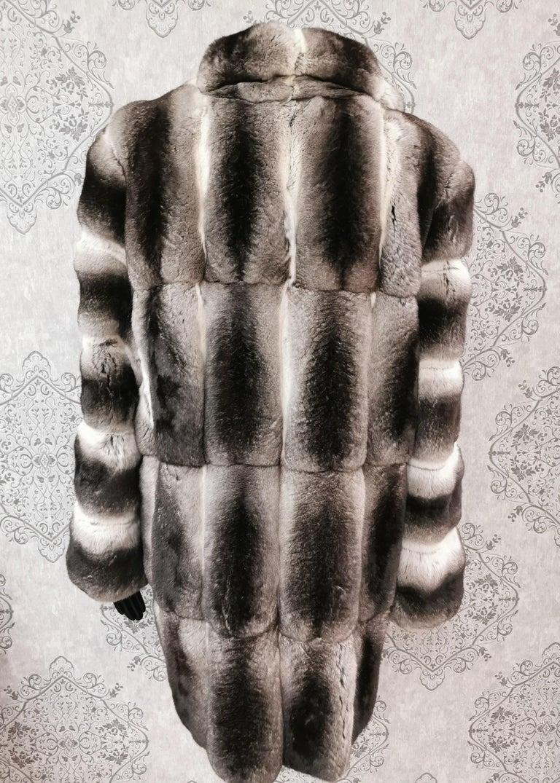 John Galliano Chinchilla Fur Coat (size 16) For Sale 3