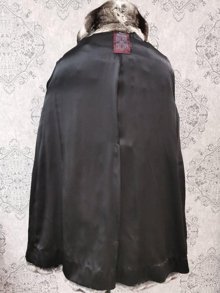 John Galliano Chinchilla Fur Coat (size 16) For Sale 4