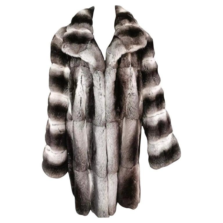 John Galliano Chinchilla Fur Coat (size 16) For Sale