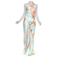 John Galliano Christian Dior Carol Alt Bias Cut Gown With Slit