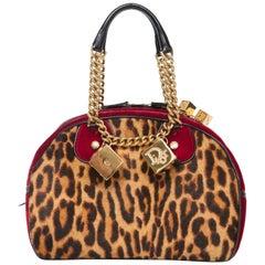 John Galliano for Christian Dior Runway Leopard Velvet Gambler Handbag,Fall 2004