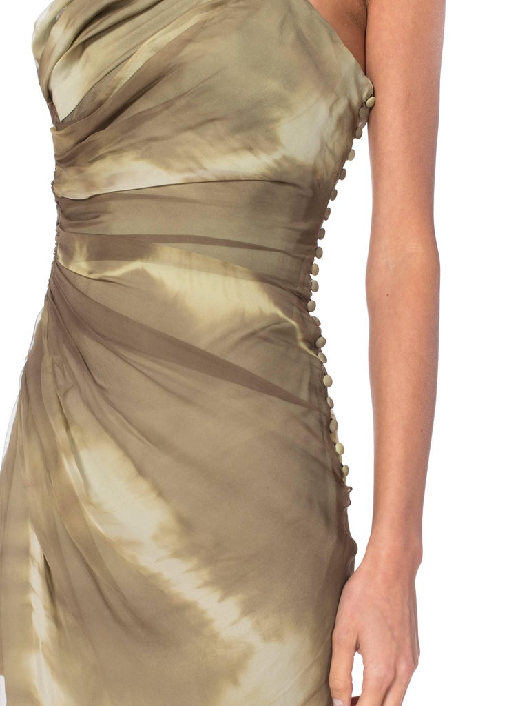 John Galliano Christian Dior Tye Dye Dress For Sale 4