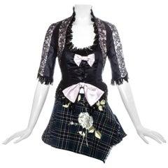 John Galliano corset and mini skirt runway ensemble, ss 1994