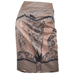 John Galliano for Christian Dior 2006 Lace Print Skirt