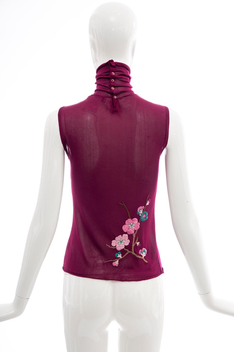John Galliano for Christian Dior Embroidered Sleeveless Top, Fall 2003 For Sale 1
