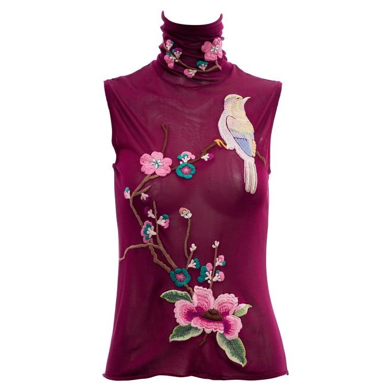 John Galliano for Christian Dior Embroidered Sleeveless Top, Fall 2003 For Sale