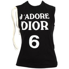 "John Galliano for Christian Dior ""J'ADORE DIOR"" Tank Top T-Shirt"