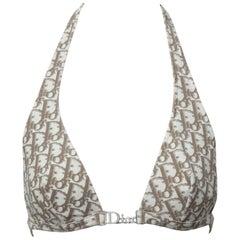 John Galliano for Christian Dior Logo Bikini Top
