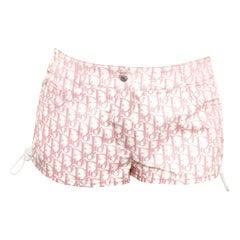 John Galliano for Christian Dior Pink Trotter Logo shorts