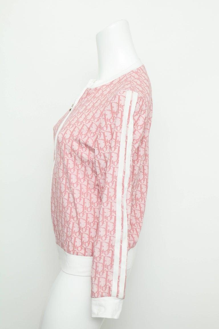 Women's John Galliano for Christian Dior Pink Trotter Logo Sweater