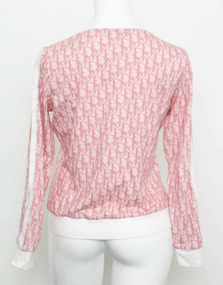 John Galliano for Christian Dior Pink Trotter Logo Sweater 1