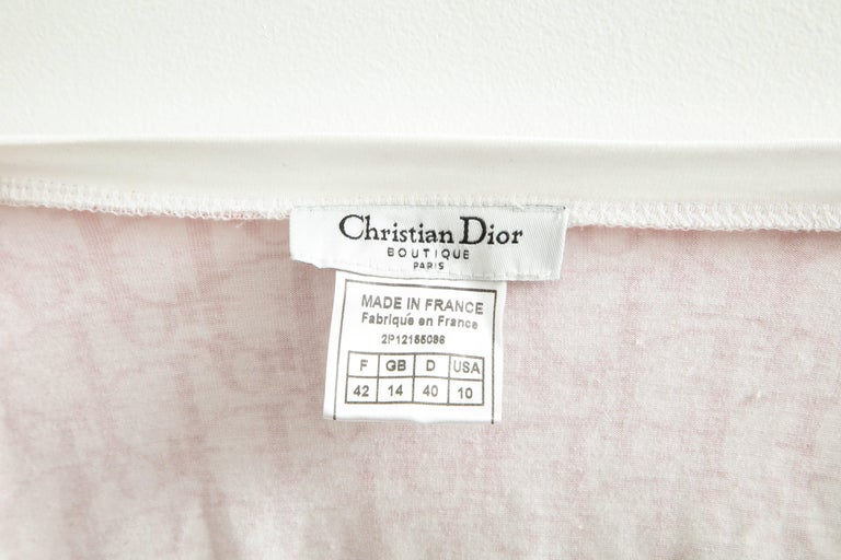 John Galliano for Christian Dior Pink Trotter Logo Sweater 2