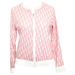 John Galliano for Christian Dior Pink Trotter Logo Sweater