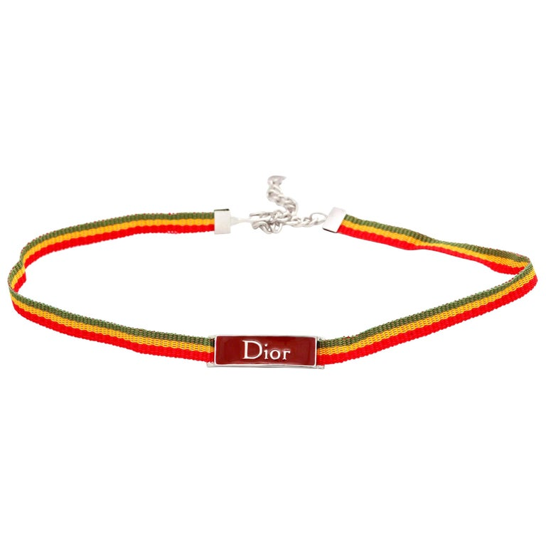 John Galliano for Christian Dior Rasta Collection Choker  For Sale
