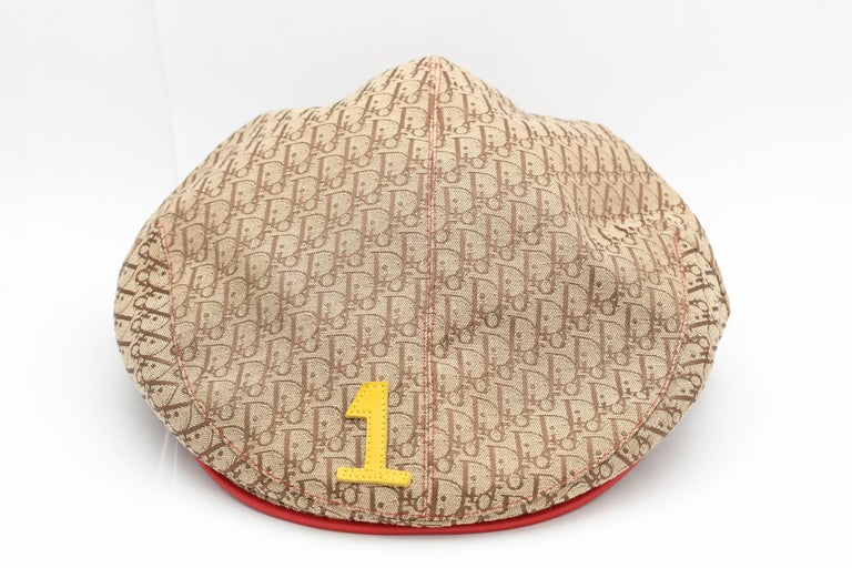 John Galliano for Christian Dior logo hat with