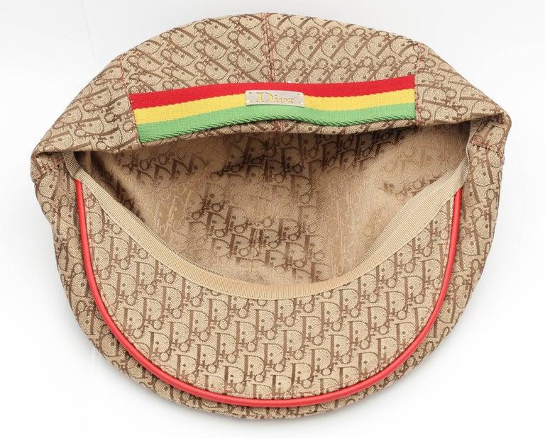 Women's or Men's John Galliano for Christian Dior Rasta Logo Hat