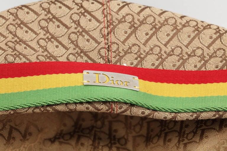 John Galliano for Christian Dior Rasta Logo Hat