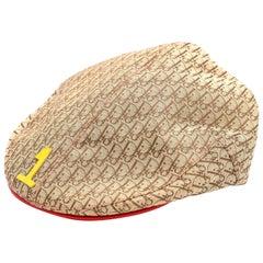 "John Galliano for Christian Dior Rasta Logo Hat ""1"" Printed"