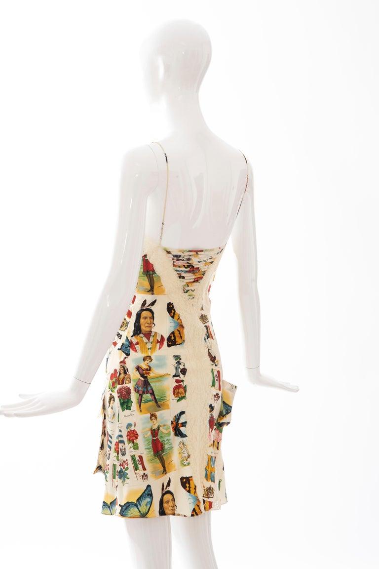 John Galliano for Christian Dior Runway Printed Silk & Lace Dress, Spring 2002 7