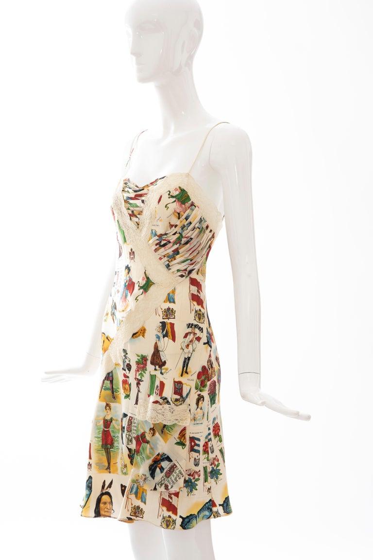 John Galliano for Christian Dior Runway Printed Silk & Lace Dress, Spring 2002 9