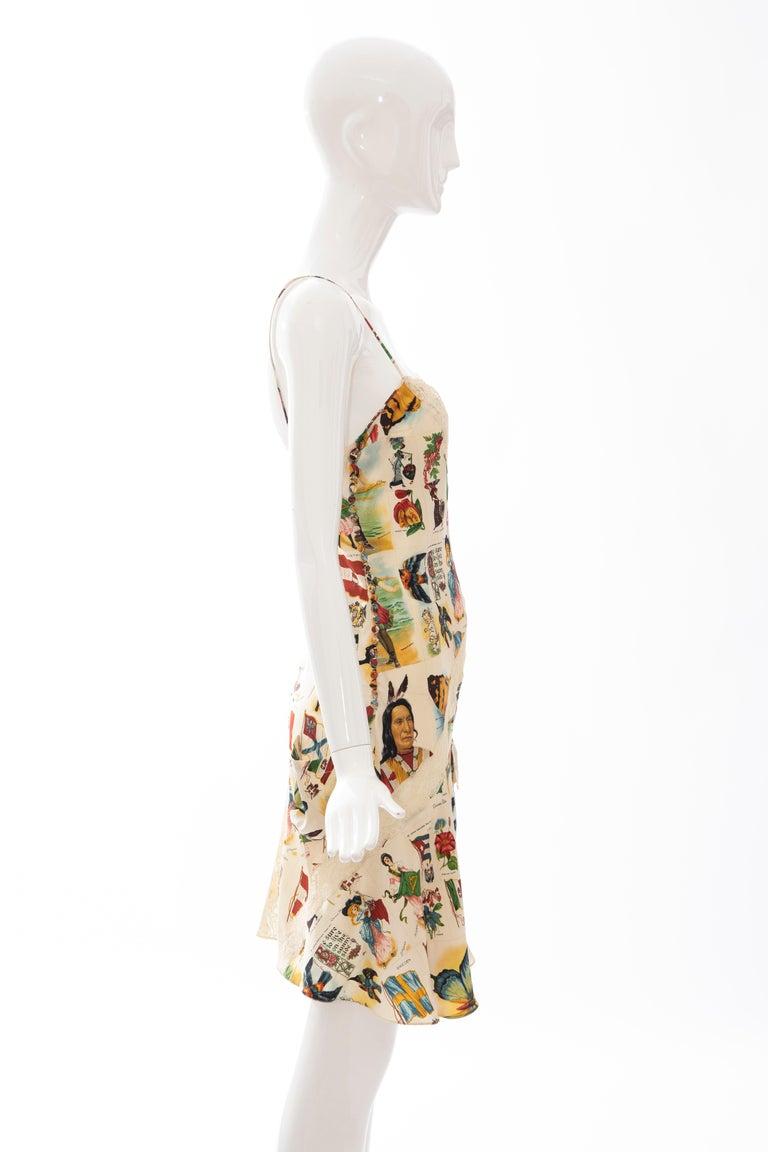 John Galliano for Christian Dior Runway Printed Silk & Lace Dress, Spring 2002 1