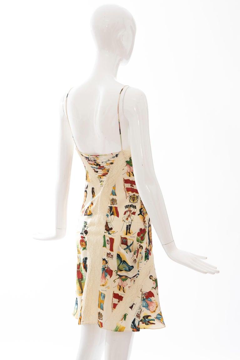 John Galliano for Christian Dior Runway Printed Silk & Lace Dress, Spring 2002 2