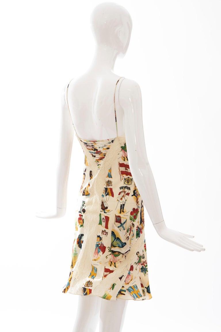 John Galliano for Christian Dior Runway Printed Silk & Lace Dress, Spring 2002 4