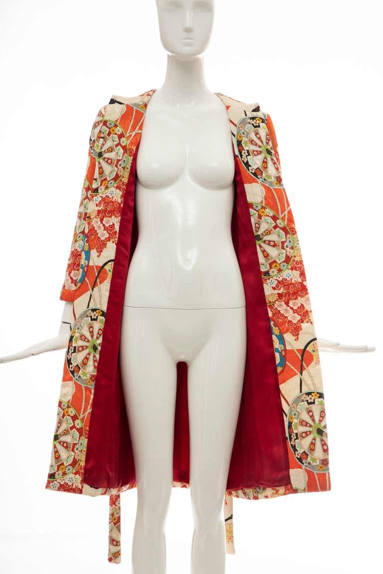 John Galliano for Christian Dior Runway Silk Quilted Coat, Spring 2001 For Sale 7