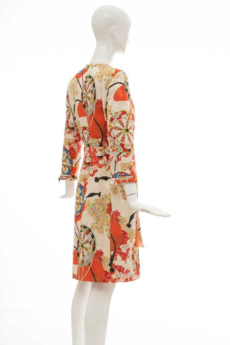John Galliano for Christian Dior Runway Silk Quilted Coat, Spring 2001 For Sale 1