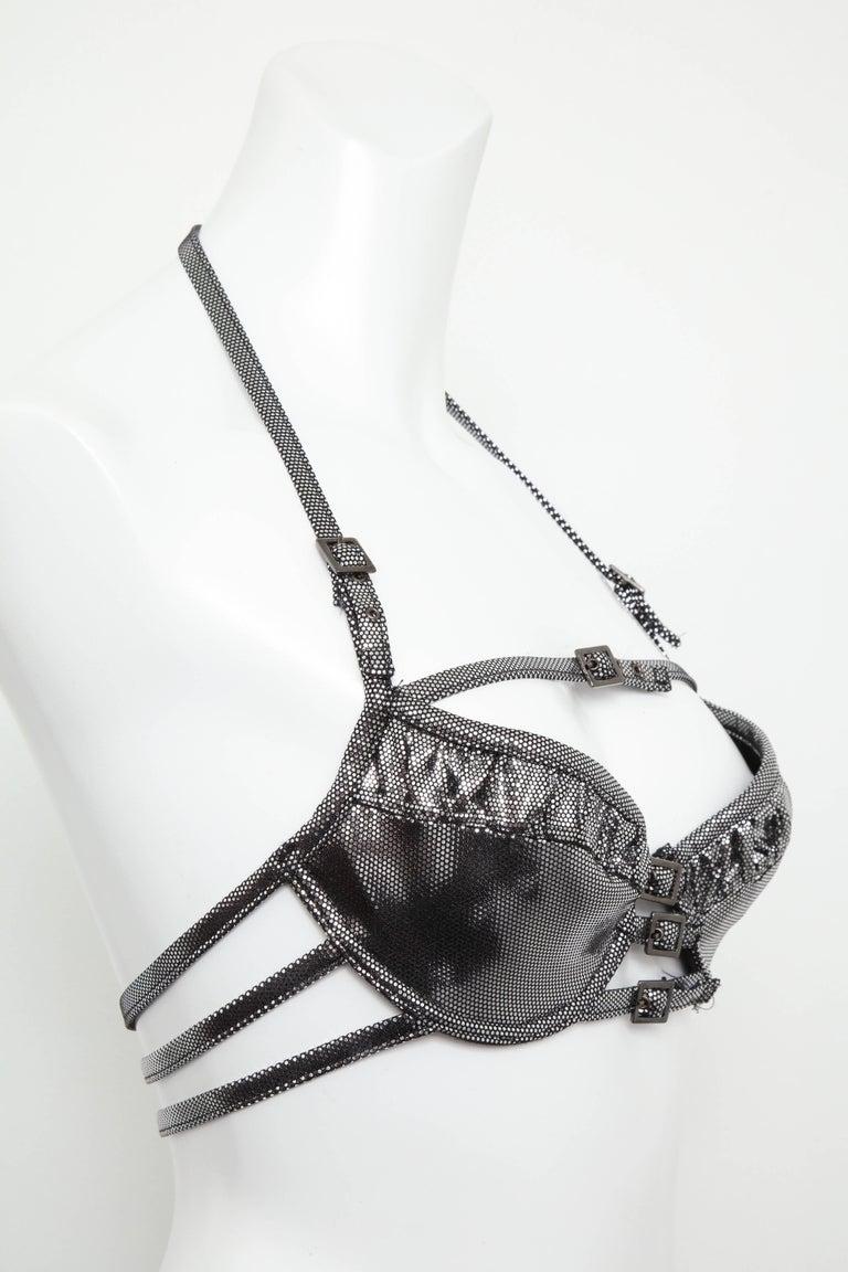John Galliano for Christian Dior Silver Swimsuit Bikini  For Sale 1