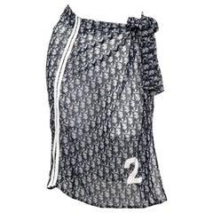 John Galliano for Christian Dior Trotter logo pareo