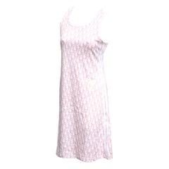 John Galliano for Christian Dior Trotter Logo Pink Dress