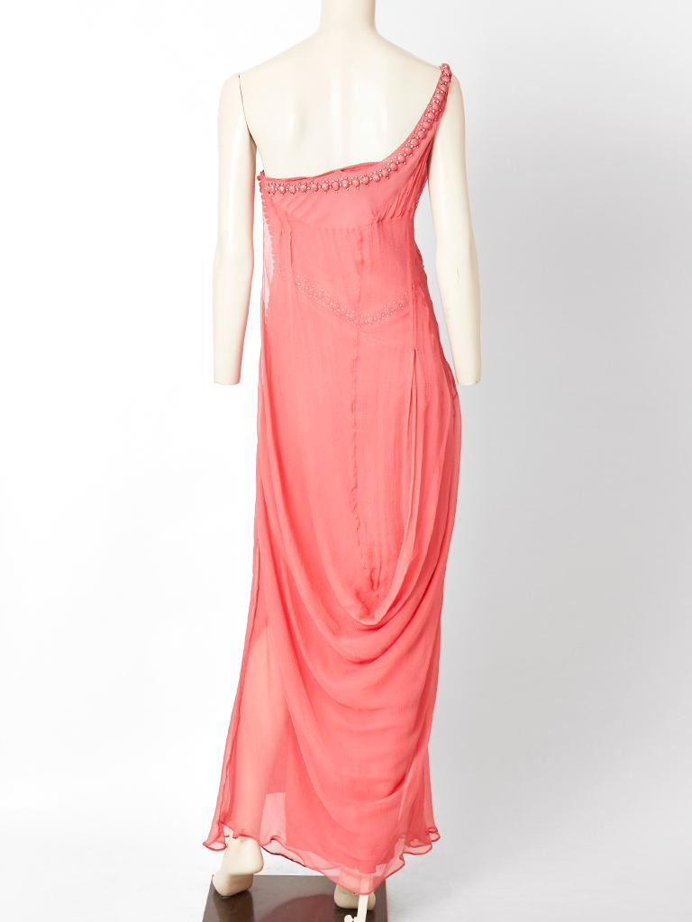 Women's John Galliano For Dior Chiffon Gown For Sale