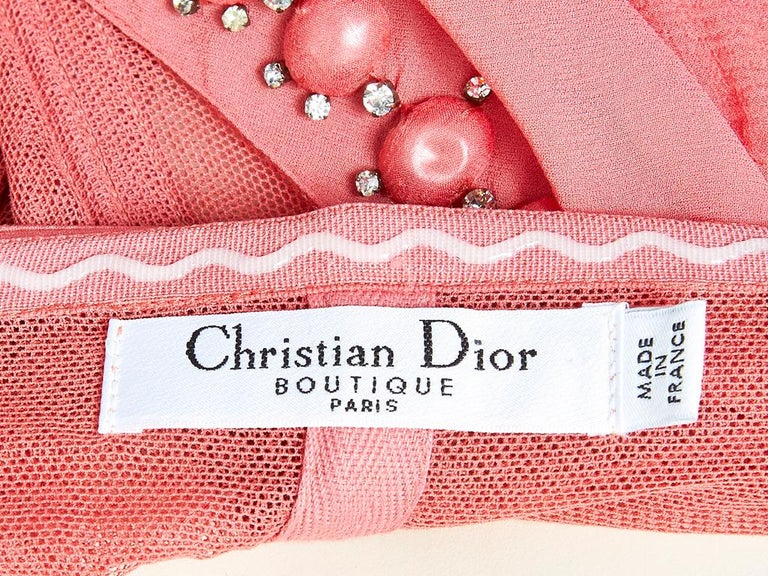 John Galliano For Dior Chiffon Gown For Sale 1